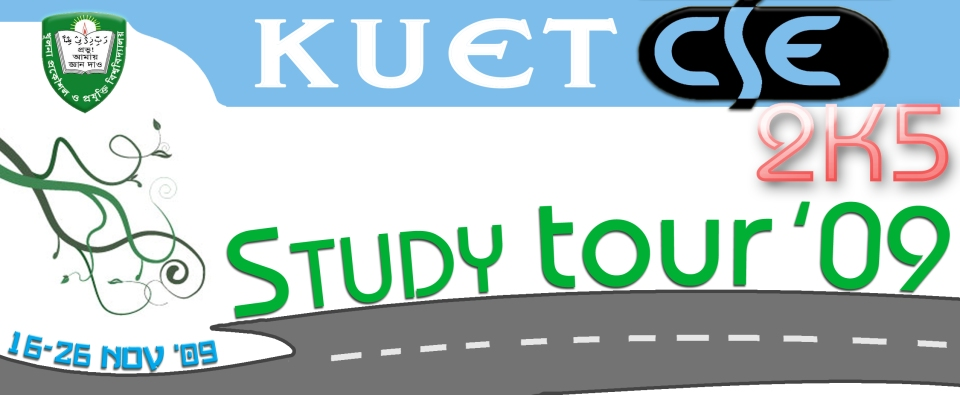 Banner for study tour of KUET CSE 2K5