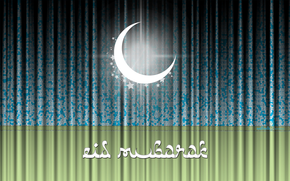 Moon Shines with Eid Wishes